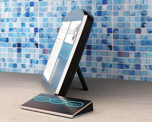 digital cookbook with remote concept design solidworks model