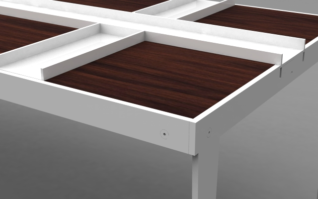 danish modern coffee table close-up