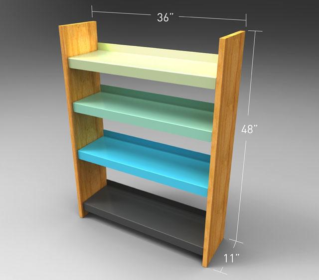 bookshelf dimensions