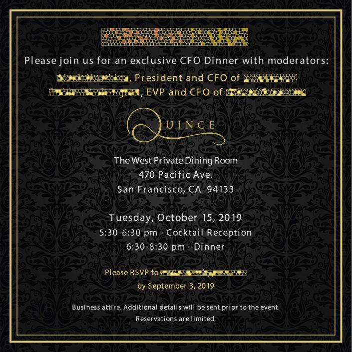 CFO Dinner Invite
